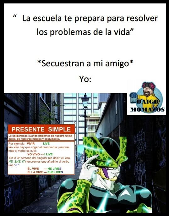 El Presente Simple - meme