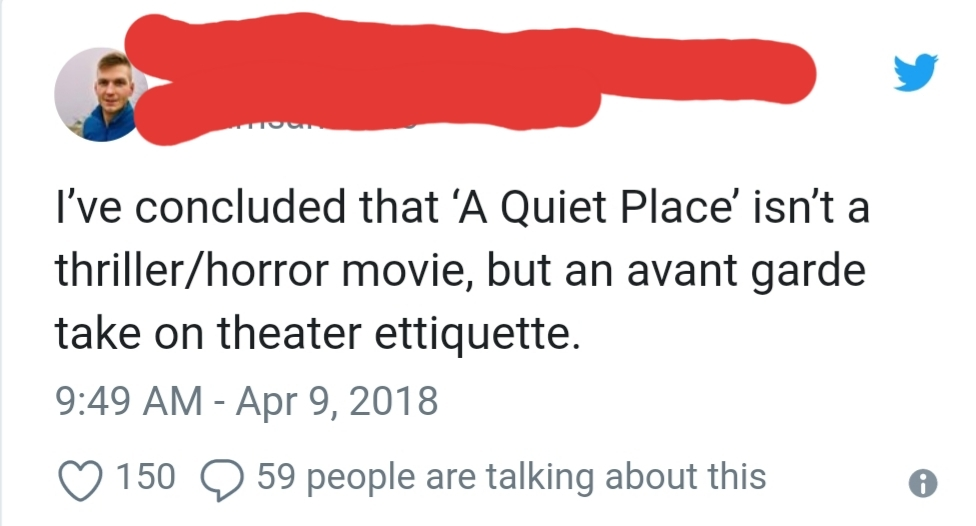 Theater etiquette is terrible where I'm from - meme