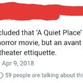 Theater etiquette is terrible where I'm from