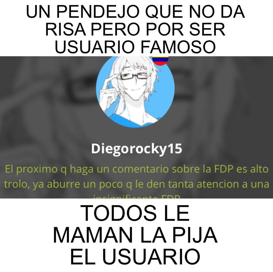 Diegorocky15 se la traga - meme
