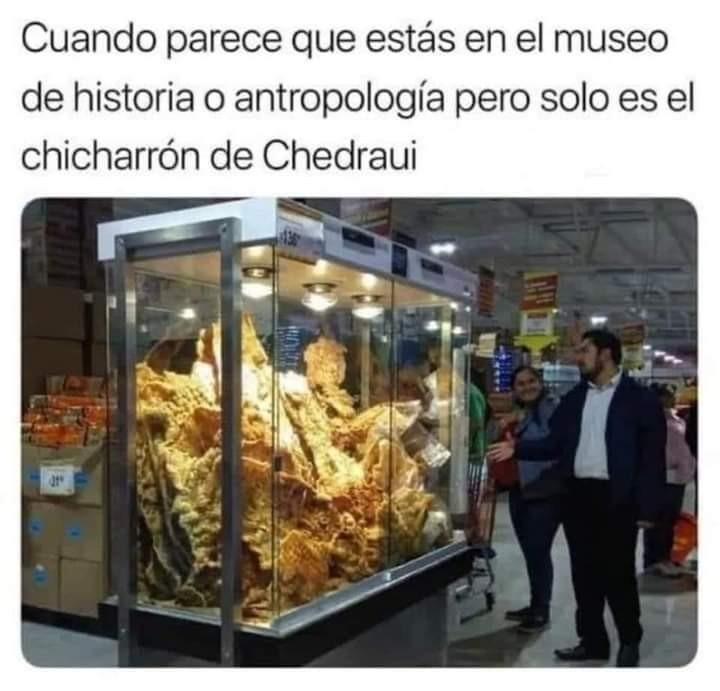 Chicharron jurasico terceario en miercoles de plaza - meme