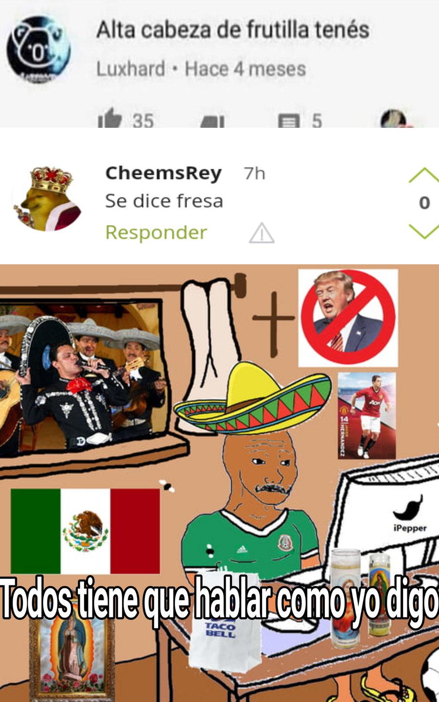 Tremendo pelotudo ese mexichango - meme