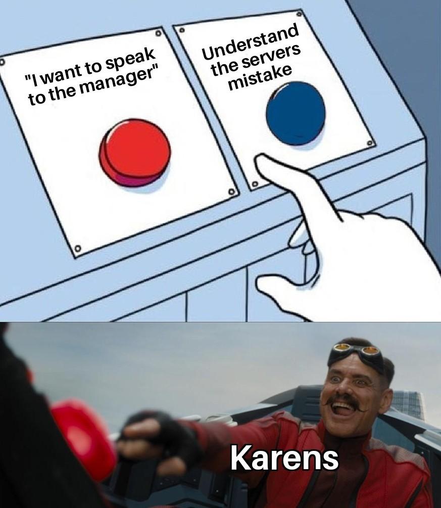 Karen moment - meme