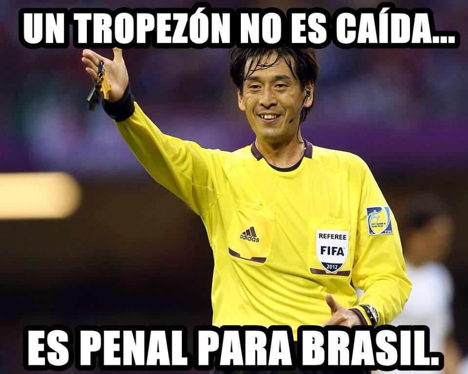 Penal para el futuro hexacampeon, digo Brasil - meme