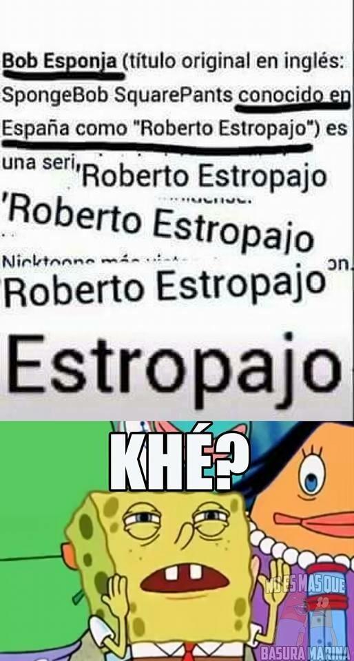 Bob estropajo - meme