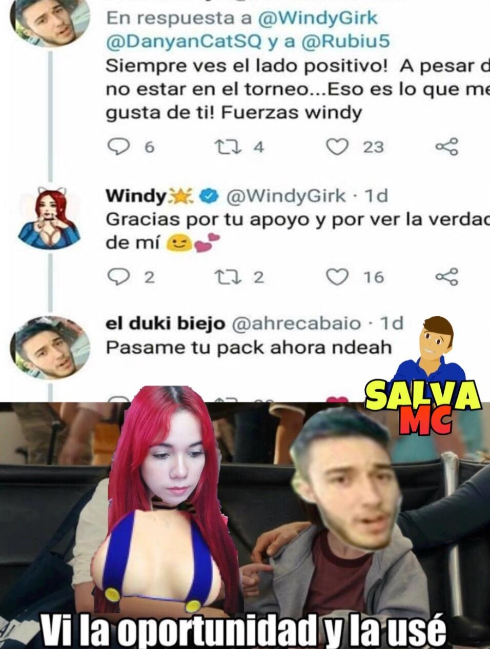 windy pack - meme