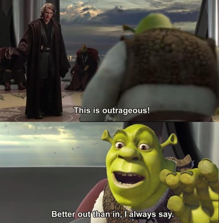 Shrek is force sensitive - meme