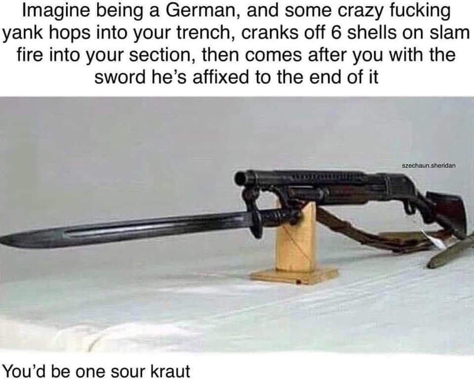 A crude assault weapon - meme