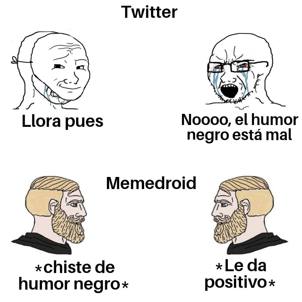 Humor negro = Chad - meme