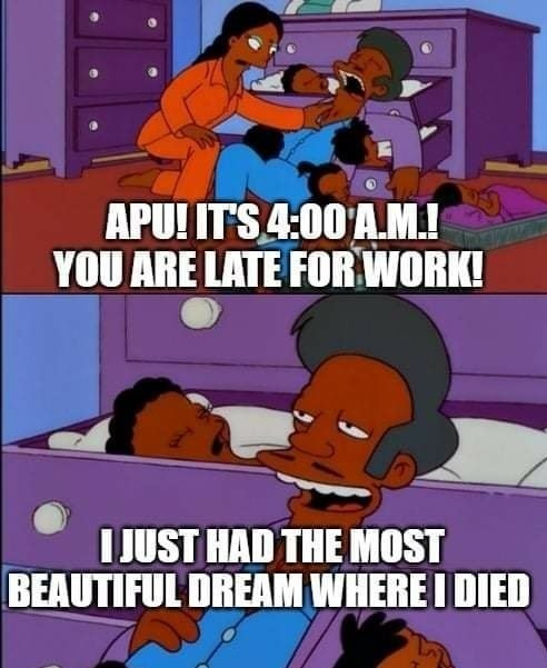 Apu ded - meme