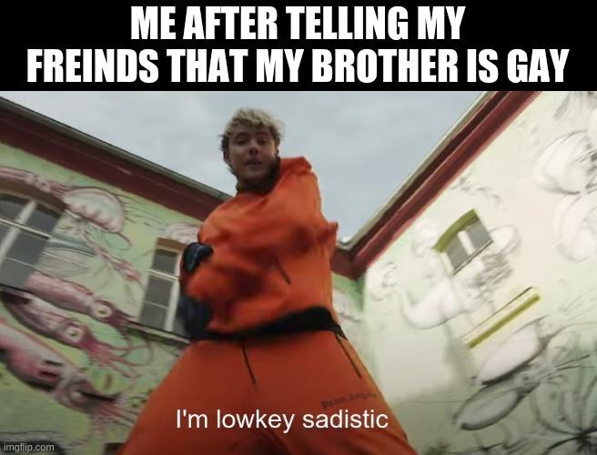 I'm low key sadistic - meme