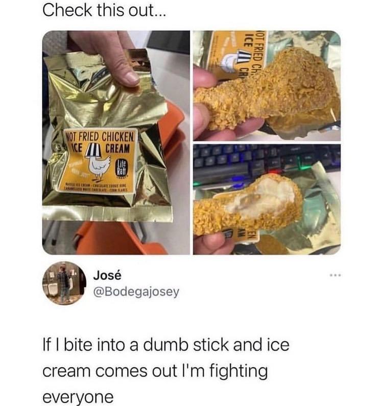 ice cream chicken - meme