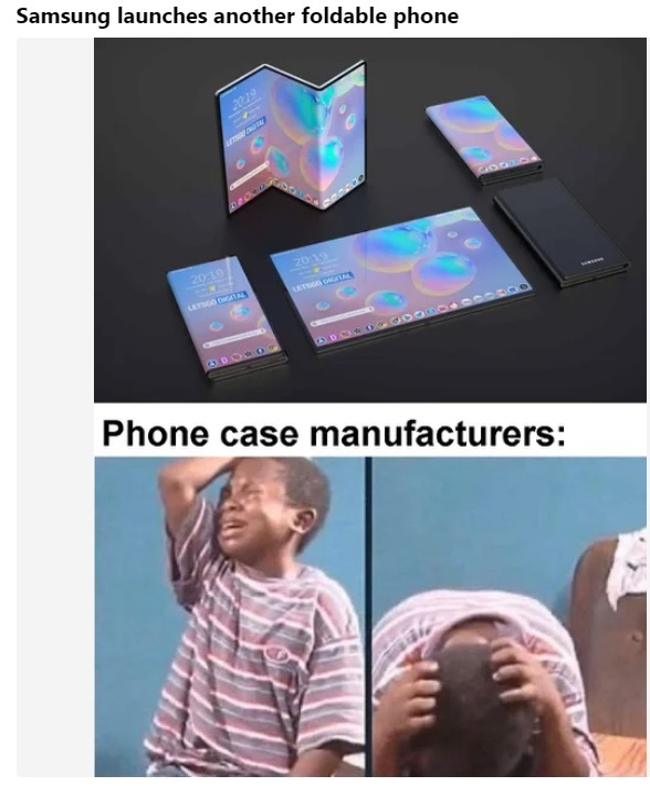 Samsung launches another foldable phone - meme
