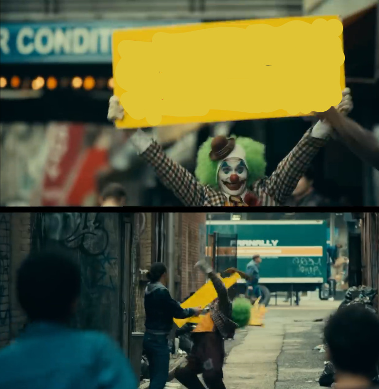 New meme format I made based on joker trailer.
