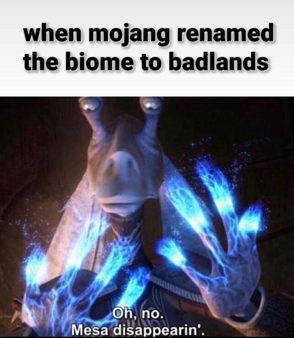 Fuck the badlands - meme