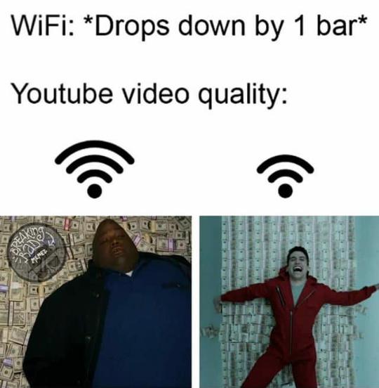 Bajó mucho la calidad - meme