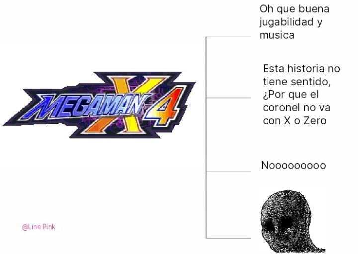 Historia del Mega ManX4 - meme