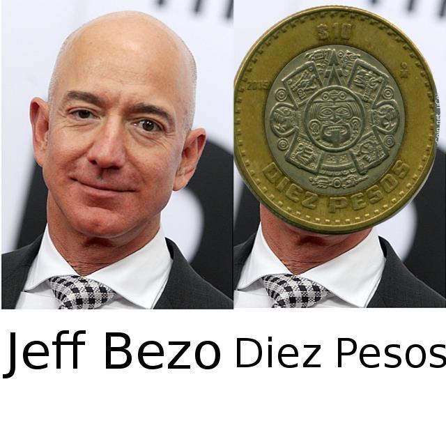 Confirmado: El creador de Amazon tiene Diez Pesos. - meme