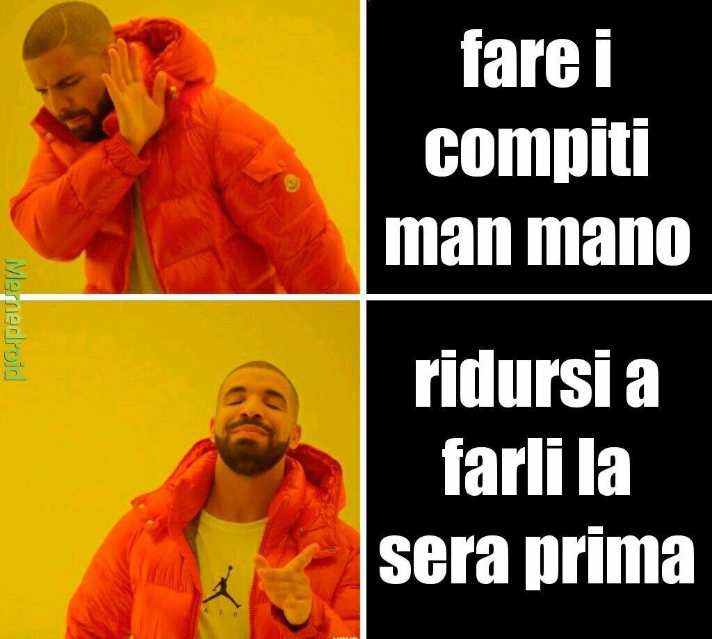 Compiti - meme
