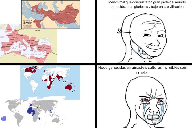 Ejem, imperialismo o y esclavismo, ejem, lo hemos tenido todos - meme