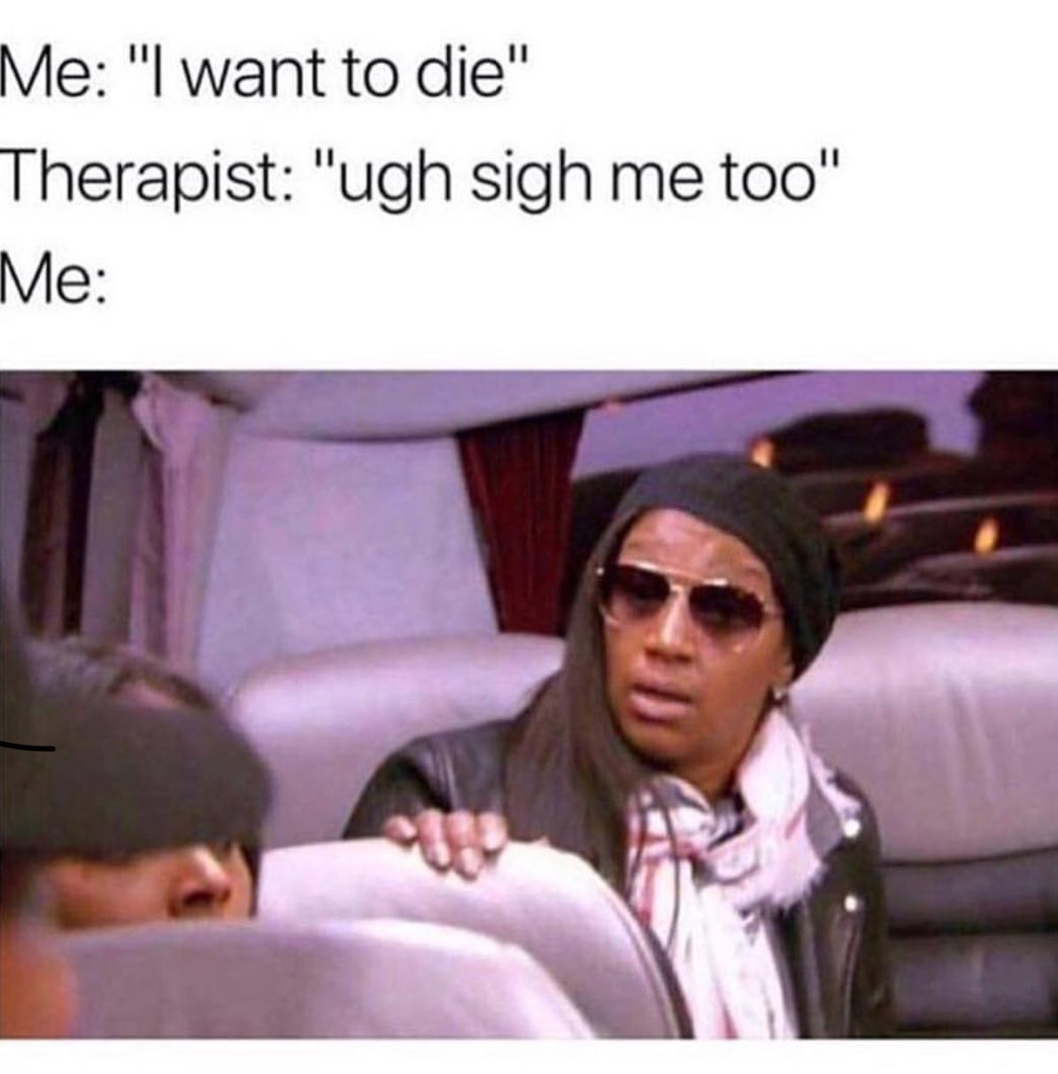 i do want to die tho - meme