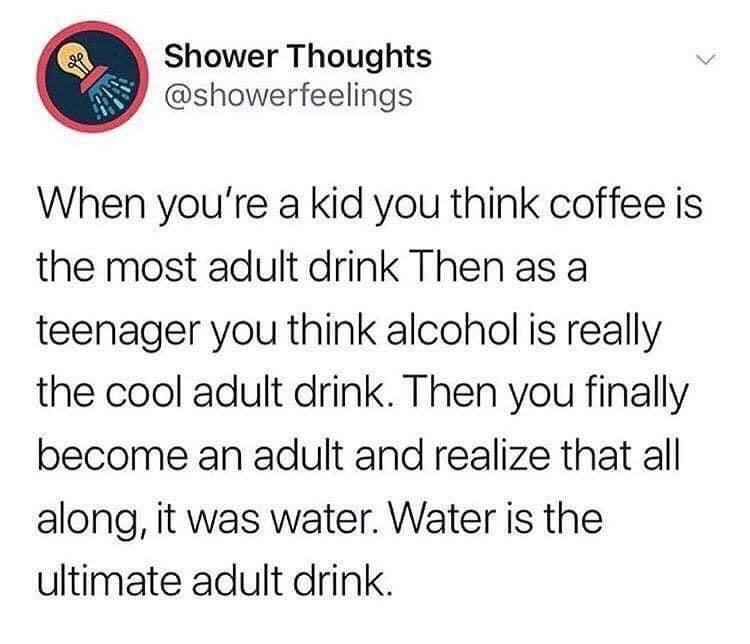 EXPLAINS WHY THEY ORDER WATER - meme
