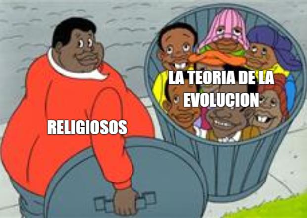 hey hey hey hey la evolucion es muy gay - meme