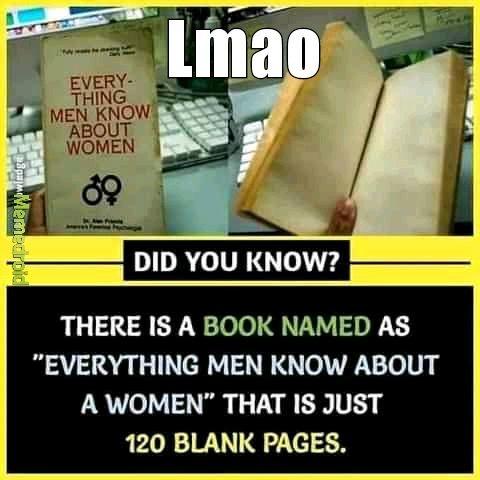 Men knows nothing - meme