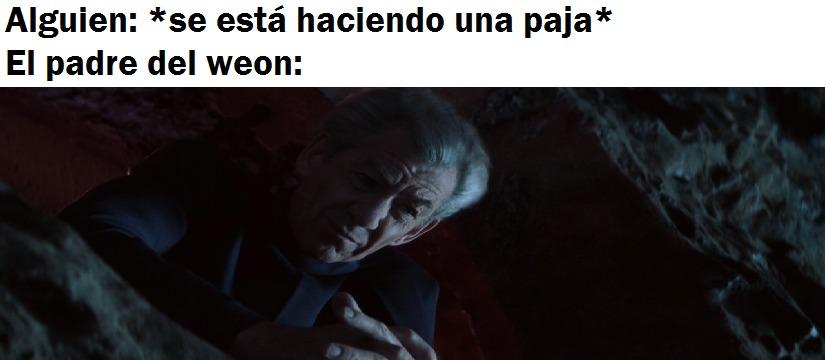 Magneto vigila a los que se están haciendo una paja, cuidado - meme