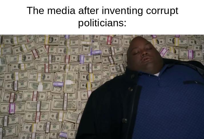 Media companies are corrupt too - meme
