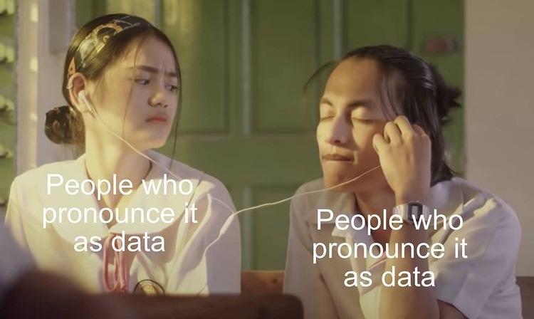 it's data - meme
