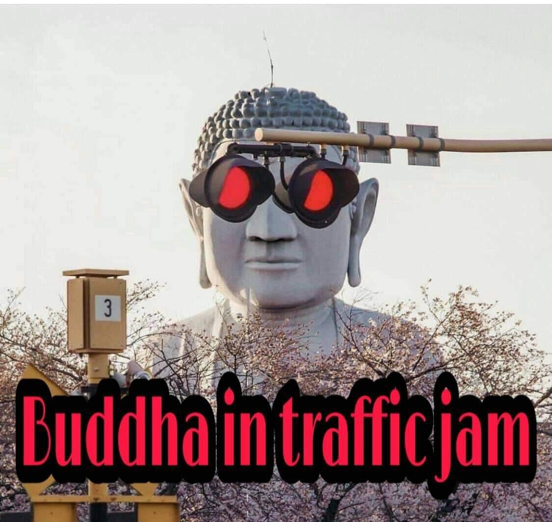 Thug life Buddha - meme