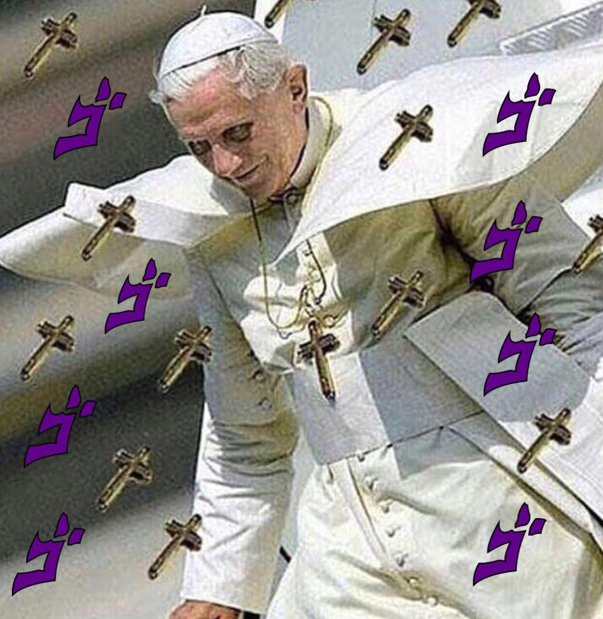 User--> el papa Stand--> Yisus Crist - meme