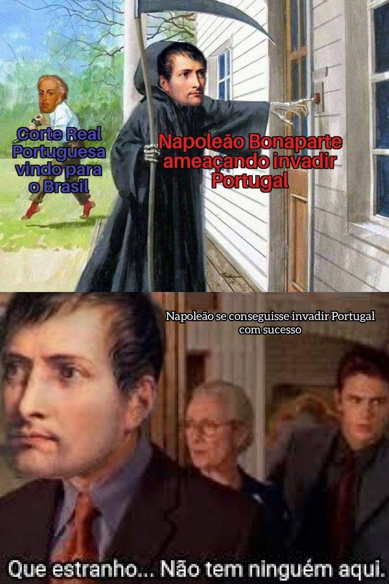 Triste Napoleão, bloqueio continental não deu certo - meme
