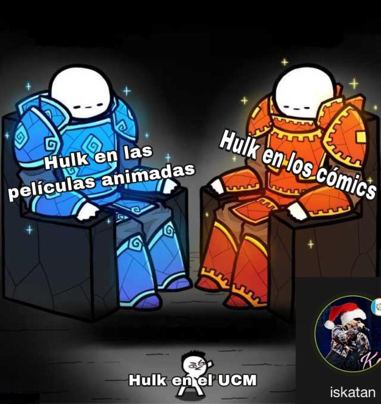 """Ya que el meme va de hulk,recomiendo mucho la saga de """"Immortal Hulk"""" ya se que salió desde el 2018 pero bueno,perdón por exagerar la marca de agua"""