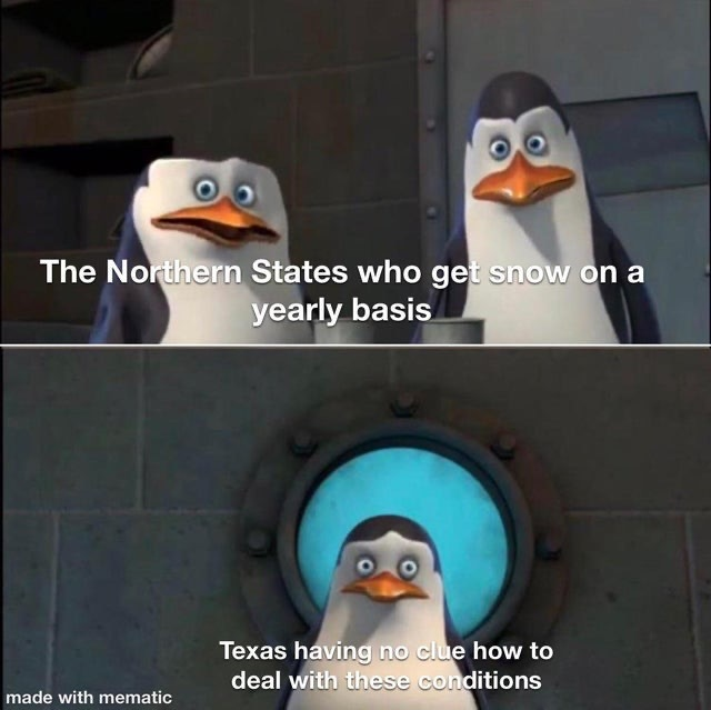 I have 5 inches of snow and I live in Austin - meme