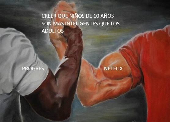 Netflix: tengo 10 años y e creado un plan para salvar al mundo entero en tan solo 5 minutos Progres:  A veces los niños entiendes y son mas inteligentes que los adultos - meme