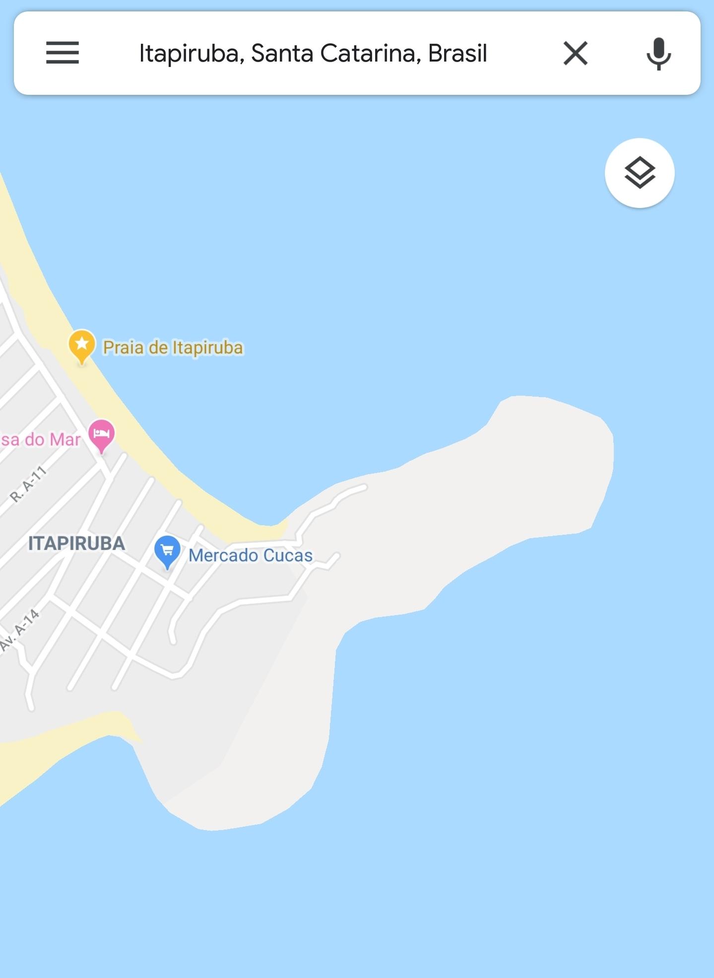 Piroca de Itapiruba, em SC. Pesquisa no mapa aí. - meme