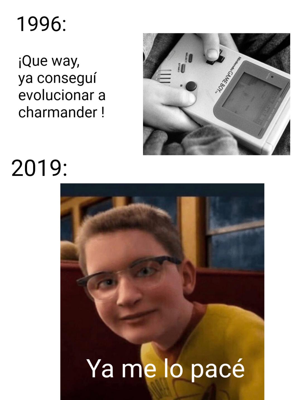 Jugadores de Pokémon de antes y después - meme