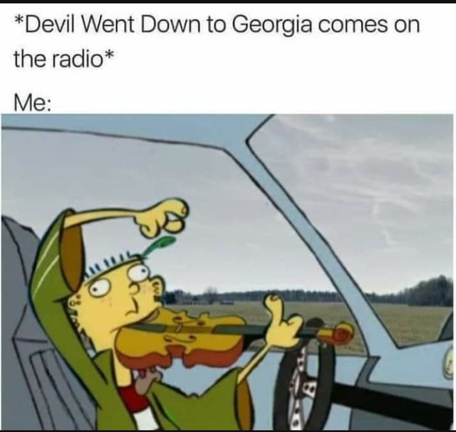 I too love playing my car fiddle - meme