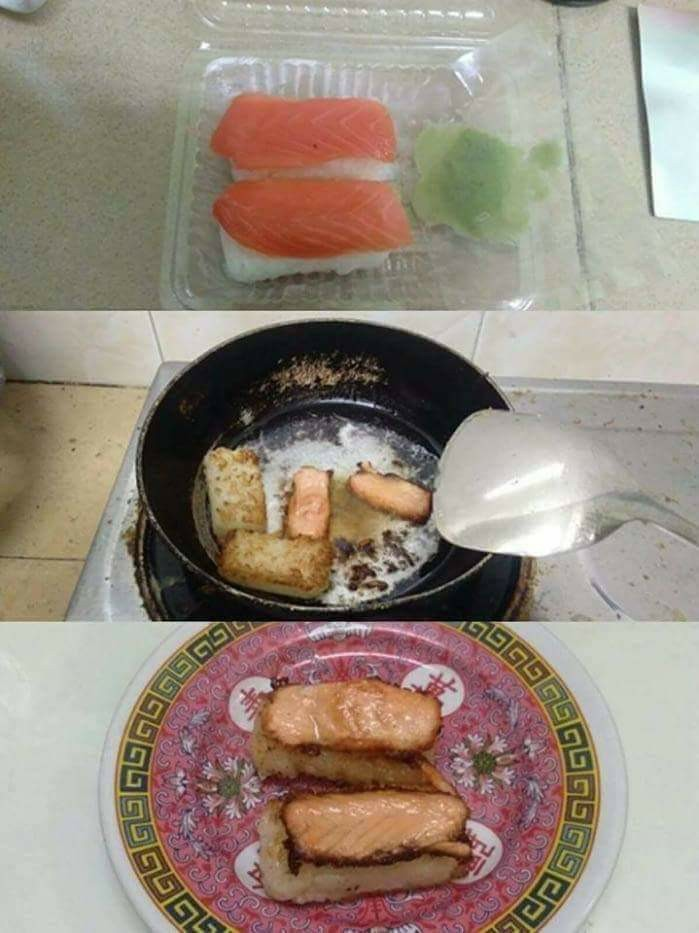 Comida japonesa é uma bosta - meme