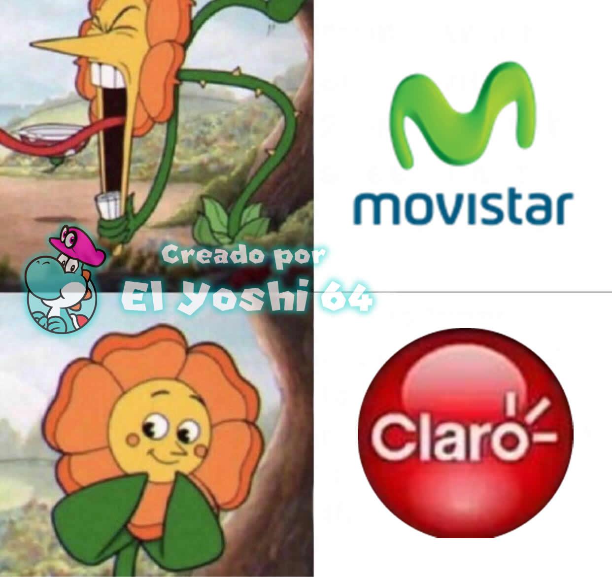 Esto pasa cuando te cambias a Movistar: Flowey la flor se enfurece - meme