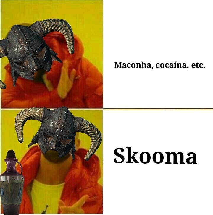 Comprei Skooma de um Khajiit suspeito - meme