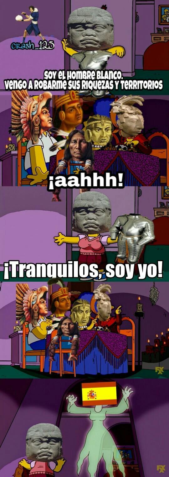 Conquista de cuzco,tenochtitlan y el resto de hispanoamerica in a nutshell - meme