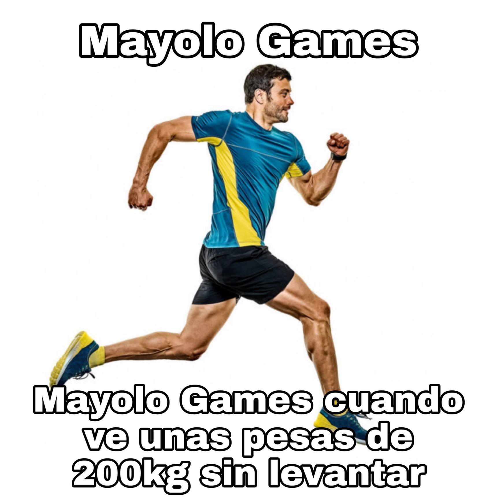 Alto chad el Mayolo Games, mi idolo - meme