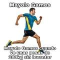 Alto chad el Mayolo Games, mi idolo