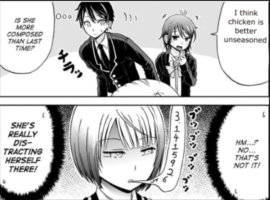some people seem to like to eat cardboard( the anime is my girlfriend's a shobitch) - meme