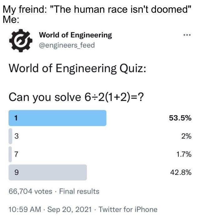 World of engineering quiz - meme