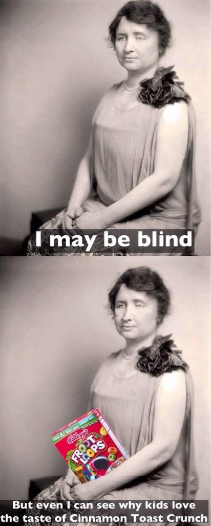 Helen Keller - meme
