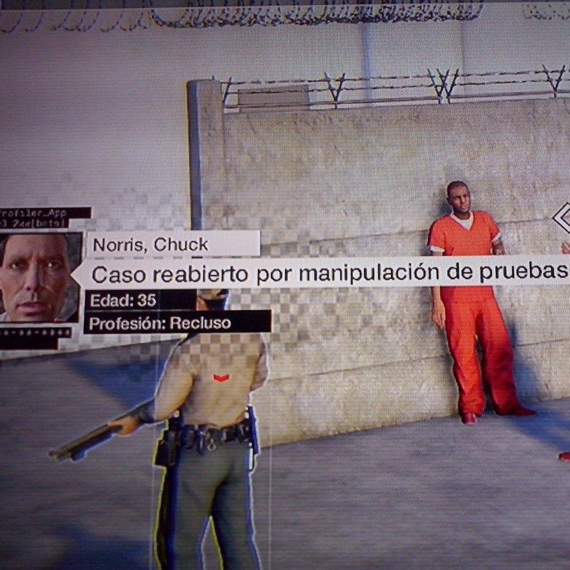 No puede ser Chuck Norris esta en la carcel de Watch Dogs - meme